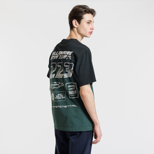 Мужская футболка Billionaire Boys Club Dip Dye Straight Logo Green фото- 3