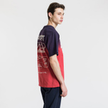 Мужская футболка Billionaire Boys Club Dip Dye Straight Logo Red фото- 2