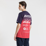 Мужская футболка Billionaire Boys Club Dip Dye Straight Logo Red фото- 3