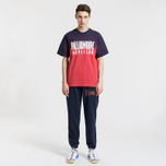 Мужская футболка Billionaire Boys Club Dip Dye Straight Logo Red фото- 4