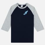 Billionaire Boys Club Flying B Raglan Men's T-shirt Navy/Grey photo- 0