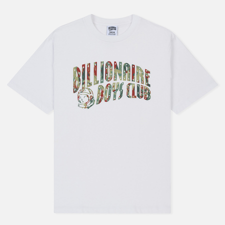 Мужская футболка Billionaire Boys Club Reflective Lizard Camo Arch Logo White