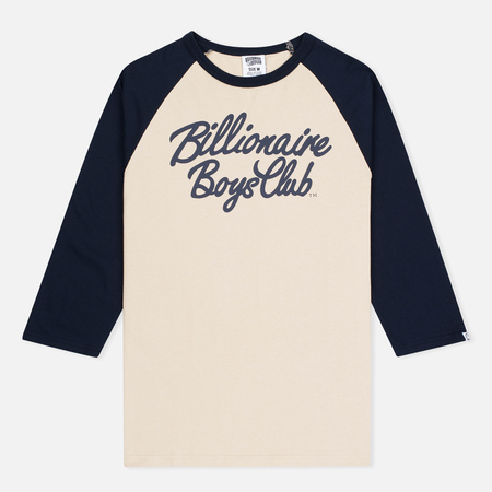 Billionaire Boys Club Script Logo Raglan Men's t-shirt Beige/Navy