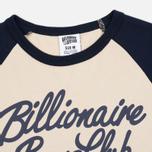 Мужская футболка Billionaire Boys Club Script Logo Raglan Beige/Navy фото- 1