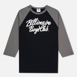 Billionaire Boys Club Script Logo Raglan Men's t-shirt Black/Grey photo- 0