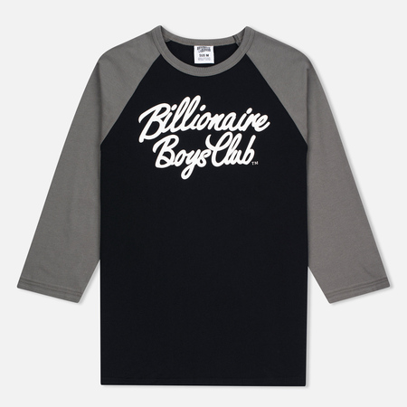 Мужская футболка Billionaire Boys Club Script Logo Raglan Black/Grey
