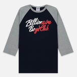 Мужская футболка Billionaire Boys Club Script Logo Raglan Navy/Grey фото- 0