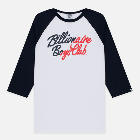 Мужская футболка Billionaire Boys Club Script Logo Raglan White/Navy