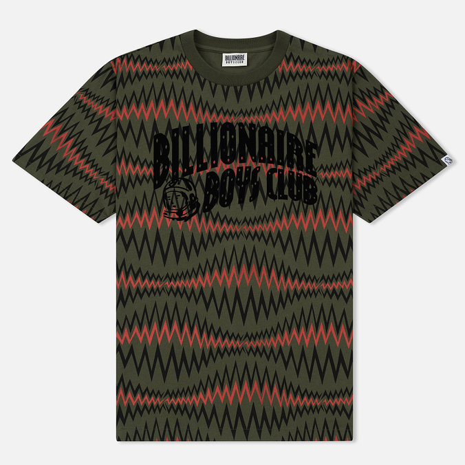 Мужская футболка Billionaire Boys Club Soundwave Arch Logo Olive
