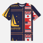 Мужская футболка Billionaire Boys Club Yachting All Over Print Navy фото- 0