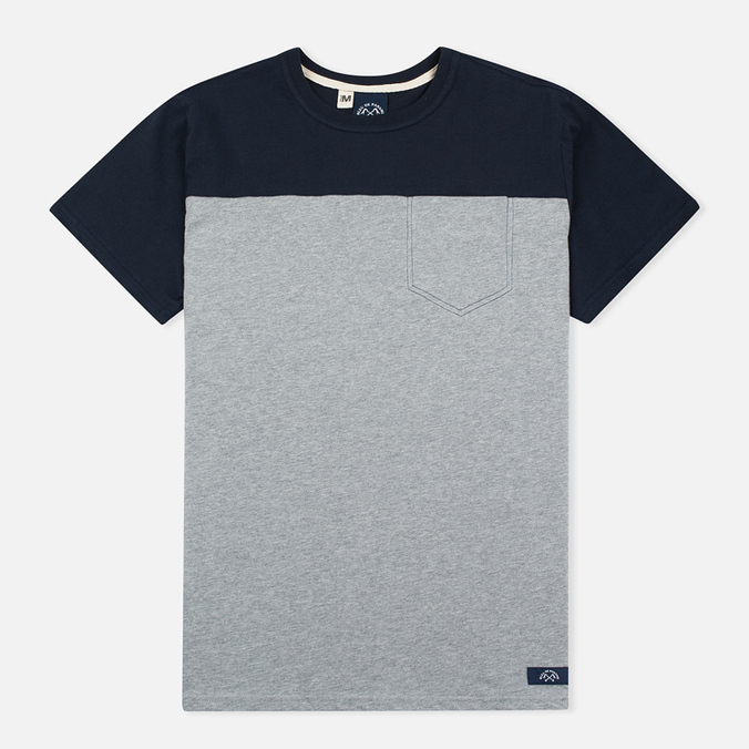 Мужская футболка Bleu De Paname 1 Poche Jersey Zinc