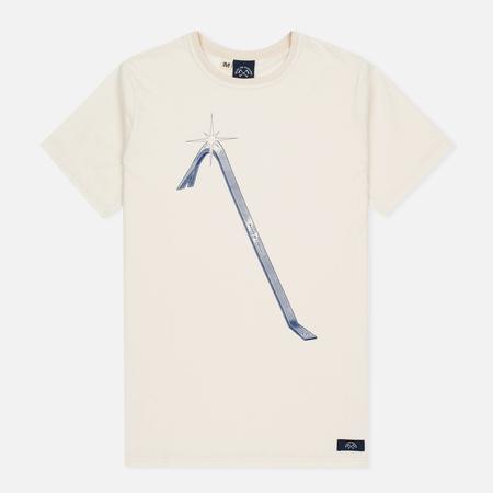 Bleu De Paname Pied De Biche Men's T-Shirt Ecru