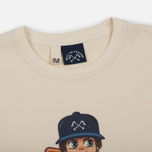 Мужская футболка Bleu De Paname x Pablo Cots Poulbot Teddy Boy Off White фото- 1