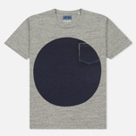 Мужская футболка Blue Blue Japan J4687 Big Circle Print Grey фото- 0