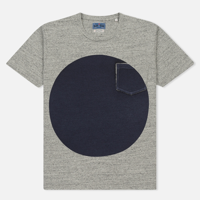 Мужская футболка Blue Blue Japan J4687 Big Circle Print Grey