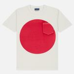 Мужская футболка Blue Blue Japan J4687 Big Circle Print Red фото- 0