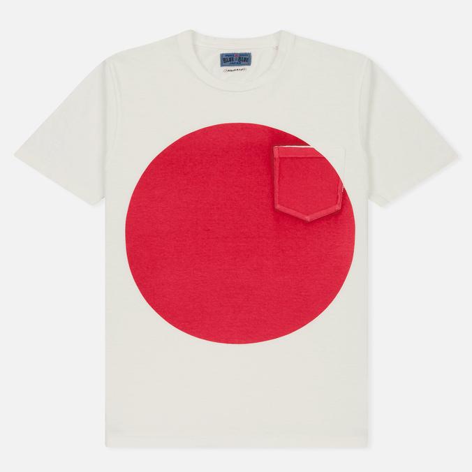 Мужская футболка Blue Blue Japan J4687 Big Circle Print Red
