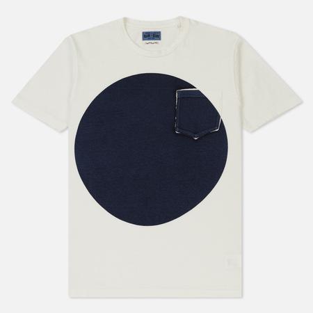 Мужская футболка Blue Blue Japan J4687 Big Circle Print White