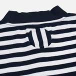 Мужская футболка Blue Blue Japan J5599 Heavy Cotton Striped Mock Neck Wide Navy/White фото- 3