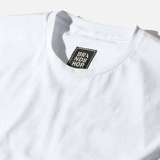 Мужская футболка BRANDSHOP Chest And Back Logo White