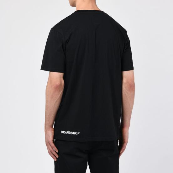Мужская футболка BRANDSHOP Chest And Side Logo Black