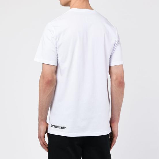 Мужская футболка BRANDSHOP Chest And Side Logo White