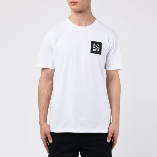 Мужская футболка BRANDSHOP Square Logo White