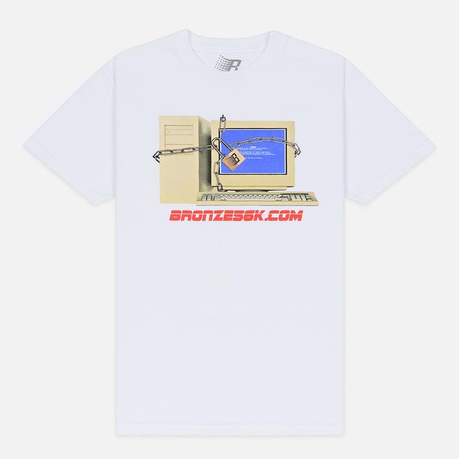 Мужская футболка Bronze 56K Computer White