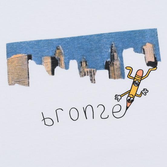Мужская футболка Bronze 56K Pencil White