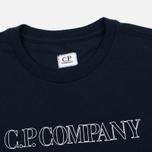 Мужская футболка C.P. Company Block Logo Navy фото- 1