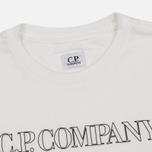 Мужская футболка C.P. Company Block Logo Off White фото- 1