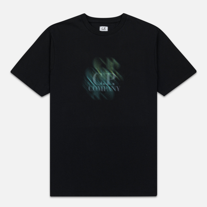 Мужская футболка C.P. Company Blurred Graphic Logo Black