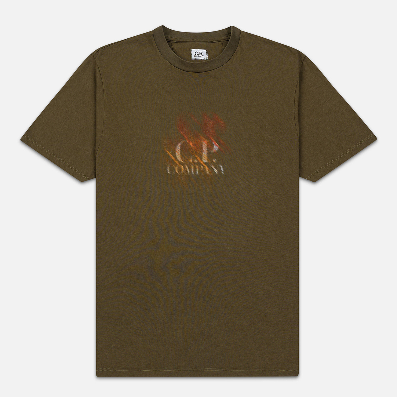 Мужская футболка C.P. Company Blurred Graphic Logo Olive Night