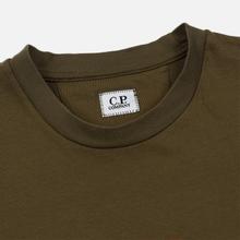 Мужская футболка C.P. Company Blurred Graphic Logo Olive Night фото- 1