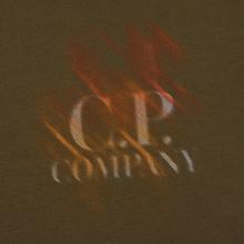Мужская футболка C.P. Company Blurred Graphic Logo Olive Night фото- 2