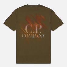 Мужская футболка C.P. Company Blurred Graphic Logo Olive Night фото- 3