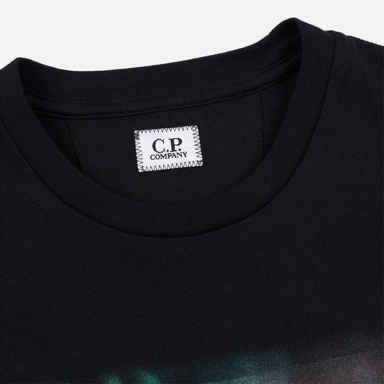 Мужская футболка C.P. Company Blurred Graphic More Logo Black