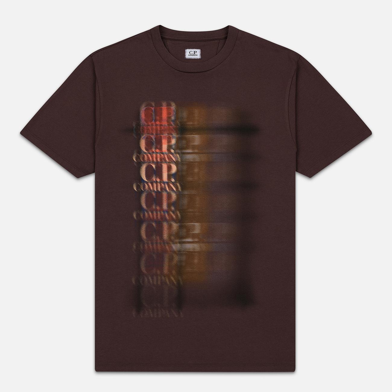 Мужская футболка C.P. Company Blurred Graphic More Logo Peppercorn