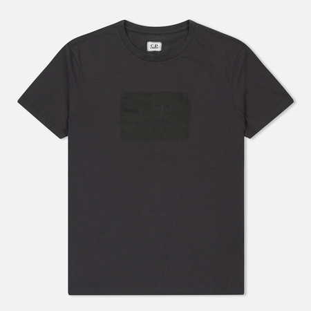 Мужская футболка C.P. Company C.P. Label Print Dark Fog Grey