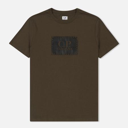 Мужская футболка C.P. Company C.P. Label Print Dark Olive