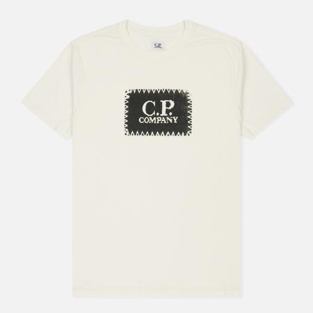 Мужская футболка C.P. Company C.P. Label Print Tapioca
