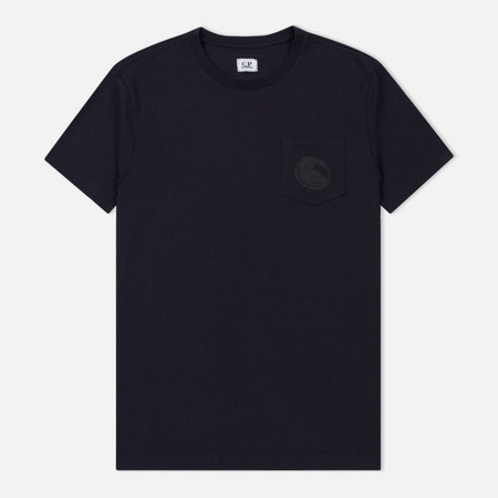 Мужская футболка C.P. Company Crew Neck Lens Print Front Total Eclipse