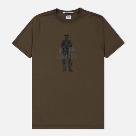 Мужская футболка C.P. Company Crew Neck Sailor Cloudburst