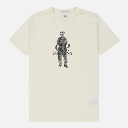 Мужская футболка C.P. Company Crew Neck Sailor Gauze White