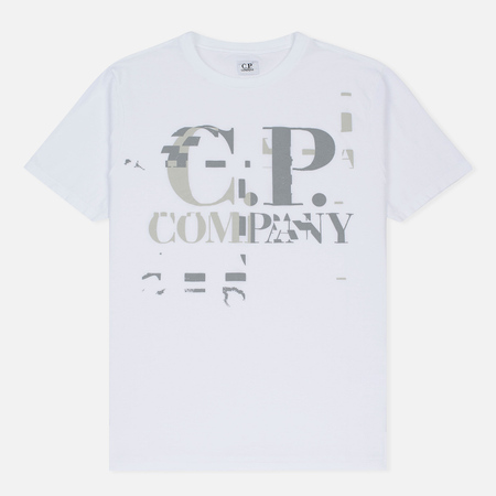 Мужская футболка C.P. Company Digital Print Logo Optic White