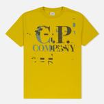 Мужская футболка C.P. Company Digital Print Logo Primrose фото- 0