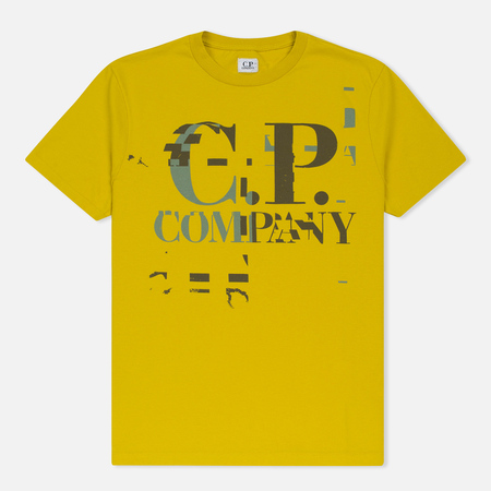Мужская футболка C.P. Company Digital Print Logo Primrose