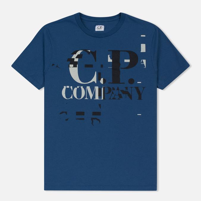 Мужская футболка C.P. Company Digital Print Logo True Navy