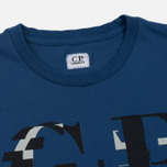 Мужская футболка C.P. Company Digital Print Logo True Navy фото- 1
