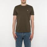 Мужская футболка C.P. Company Goggle Hood Back Print Dark Olive фото- 4